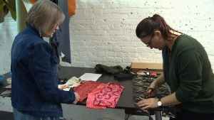 Members with Ampuseek and ALLELES Design Studio transformed donated leggings into stylish wear for people with disabilities and amputees. Mar. 26, 2017 (CTV Vancouver Island)