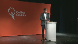 Gabriel Nadeau-Dubois, 26, will run for Quebec Solidaire in the riding of Gouin (March 26, 2017)