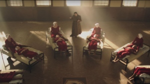A scene from 'The Handmaid's Tale' is shown in this still image from a trailer, based on the book by Canadian author Margaret Atwood. (Hulu / YouTube)