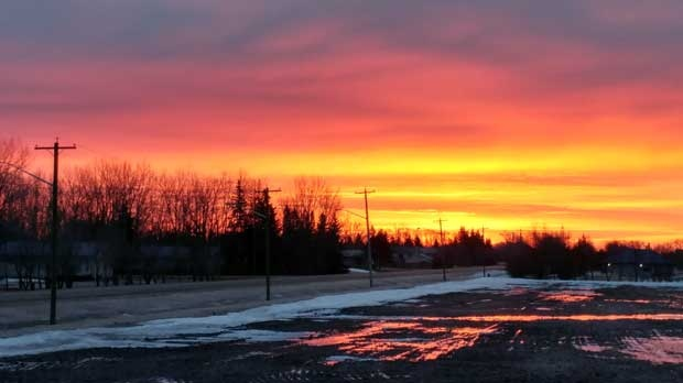 Beautiful sunrise from my deck. Photo by Jon G.