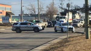 Winnipeg police closed off a section of Century Street between Wellington Avenue and Saskatchewan Avenue due to a suspicious package. (Photo: John Schneider/CTV Winnipeg)