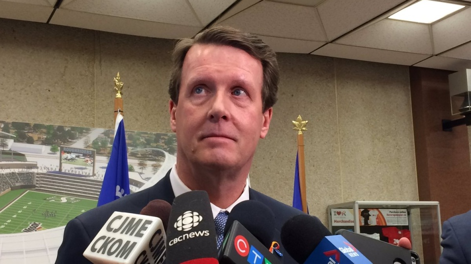 Mayor Michael Fougere says city council has to reopen the municipal budget for the first time in Regina's history following a change to provincial grant-in-lieu funding in the Saskatchewan budget. (TAYLOR RATTRAY/CTV REGINA)