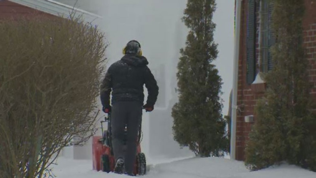 Many Nova Scotians were clearing snow early Tuesday after a messy mix of snow and freezing rain blanketed parts of the province.