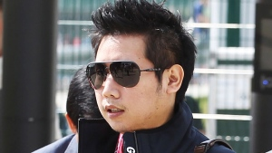 Vorayuth 'Boss' Yoovidhya at the British Formula 1 Grand Prix in Silverstone, England, on June 30, 2013. (XPB Images via AP)