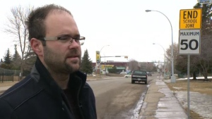 Jasmin Hodzic is challenging a ticket for speeding in a school zone he received recently.