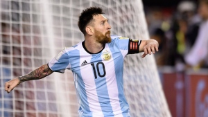 Argentina's Lionel Messi during a 2018 Russia World Cup qualifying soccer match between Argentina and Chile at the Monumental stadium in Buenos Aires, Argentina, on March 23, 2017. (Gustavo Garello / AP)