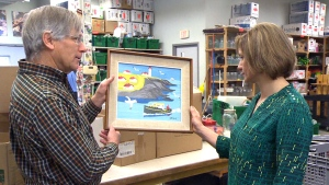 A rare Maud Lewis painting turned up in a New Hamburg, Ont. thrift store.