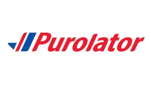 The Purolator corporate logo. (THE CANADIAN PRESS / HO)