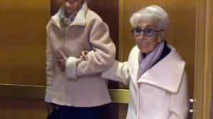 Janine Sutto, seen here in Oct. 2014, has died at the age of 95