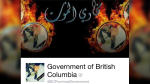 The B.C. government's Facebook page was briefly plastered with Arabic text, flames and a picture of a man in camouflage pants. March 27, 2017.