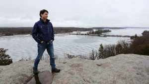 Prime Minister Justin Trudeau looks out over the Thousand Island National park in Gananoque, Ont., on March 28, 2017. (Lars Hagberg / THE CANADIAN PRESS)