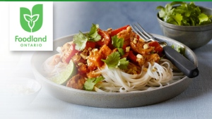 Foodland Ontario's slow-cooker Peanut Thai Chicken recipe.