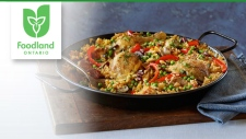Foodland Ontario's Party Paella recipe.