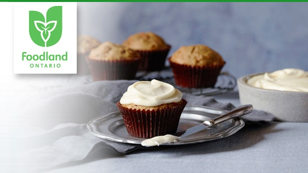 Foodland Ontario's Maple Carrot Cupcakes recipe.