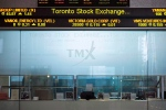 In this Friday, June 28, 2013 file photo, the Toronto Stock Exchange Broadcast Centre is shown in Toronto. (Aaron Vincent Elkaim / THE CANADIAN PRESS)