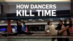 What dancers do when their flight's delayed