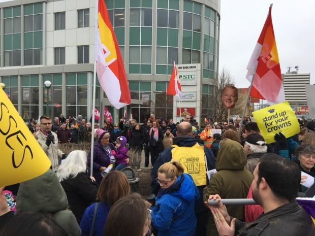 Demonstrators protest impending STC shutdown
