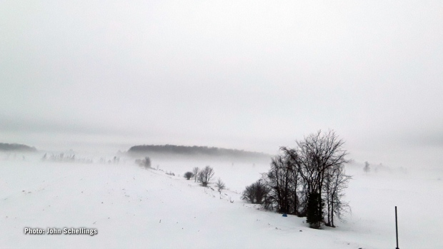 The countryside draped in fog. (John Schellings/CTV Viewer)