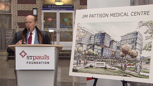 Jim Pattison's $75-million donation is the largest ever made by an individual to a medical facility in Canada. March 28, 2017. (CTV)