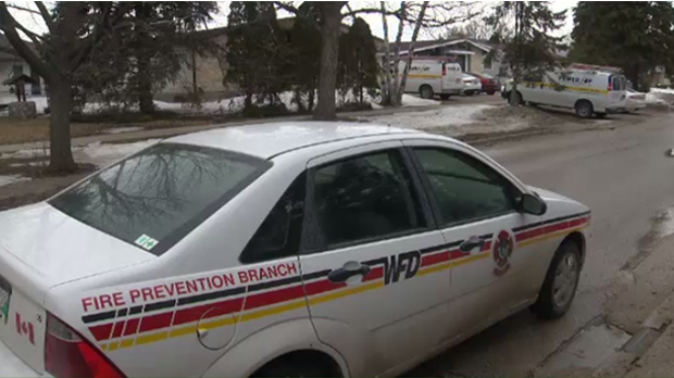 A fire prevention officer visited the Fort Richmond neighbourhood Monday to complete a routine post-fire investigation. Investigations help determine whether homes were in compliance building code and by-law requirements. (Source: Josh Crabb/CTV News)