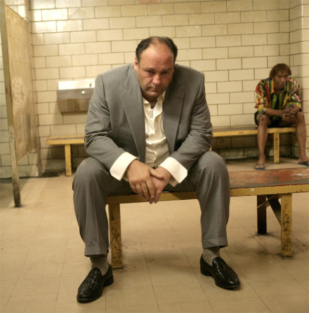 James Gandolfini portrays Tony Soprano in a scene from one of the last episodes of HBO's 'The Sopranos.' (HBO / Craig Blankenhorn)
