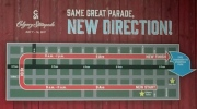 Change of direction for Calgary Stampede Parade
