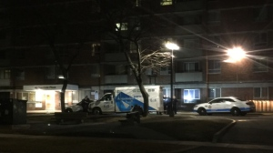 Paramedics say one male was taken to hospital after he was slashed in Scarborough this morning. (Mike Nguyen/ CP24)