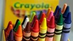 A 24-count box of Crayola crayons in New York, on March 28, 2017. (Richard Drew / AP)