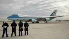 Air Force One with U.S. President Trump aboard