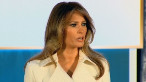 Melania Trump speaks at Women of Courage event