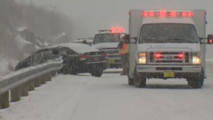 A number of accidents were reported on Nova Scotia highways, including this one near Mount Uniacke, on March 29, 2017. No serious injuries were reported.