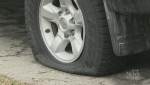 Waterloo homeowners wake up to slashed tires