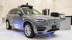 A pilot model of the Uber self-driving car. (Angelo Merendino / AFP)
