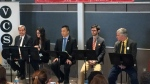 St. Laurent by-election candidates face off at Vanier College in front of a room full of students on March 29, 2017 (CTV Montreal/Tarah Schwartz)
