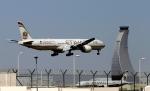 In this May 4, 2014 file photo, an Etihad Airways plane prepares to land at the Abu Dhabi airport in the United Arab Emirates.(AP / Kamran Jebreili)
