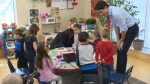 Justin Trudeau talks child care funding in Winnipe
