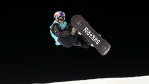Mark McMorris from Canada in action during the X Games Hafjell Big Air Ski final in Hafjell, Norway, Saturday March 11, 2017. (THE CANADIAN PRESS/AP-Geir Olsen/NTB Scanpix via AP)