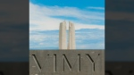 A photo of the Vimy Ridge memorial is shown in this image from Racheal McCaig's Instagram page.