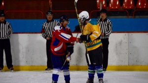 Beer league hockey in North Korea