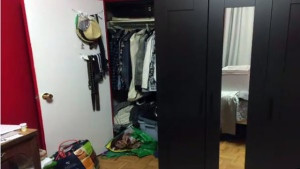 Matthew Lyn's ransacked apartment in Toronto.