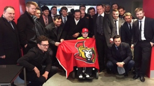 Ottawa Senators surprise the butterfly child