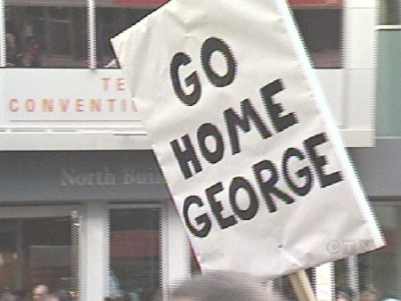 Bush protest
