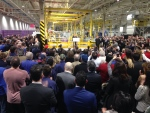 Ford announcement at Essex Engine Plant in Windsor, Ont., on Thursday, March 30, 2017. (Chris Campbell / CTV Windsor)