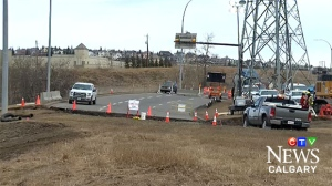 Motorists can expect delays on Sarcee Trail where it connects with Glenmore Trail until April 2, 2017.