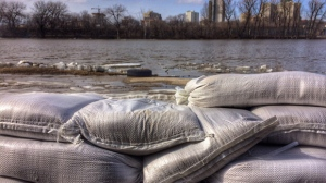 Officials said based on ice conditions on the Red River, water levels may peak this weekend. (Photo: Katherine Dow/CTV Winnipeg)