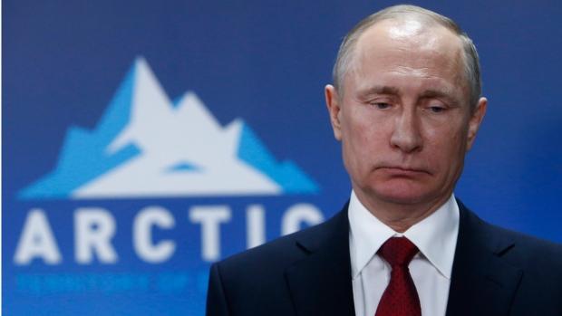 Russian President Vladimir Putin in Arkhangelsk