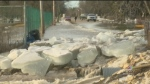 Winnipeg Beach flooding due to ice jam