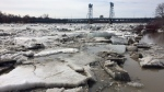 An ice jam along the Red River caused flooding in the R.M. of St. Clements and forced the closure of the Selkirk Bridge on Thursday. (Photo: Scott Andersson/CTV Winnipeg)