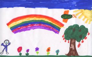 """Weather art by Owen Chiu, from Capitol Hill Elementary, titled """"The Magic Land."""""""