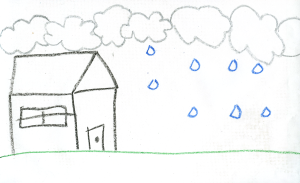 Weather art by Aliyah, age 11, from Frost Road Elementary.